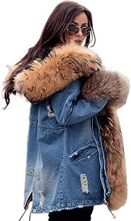 Best blue fluffy denim jacket Reviews