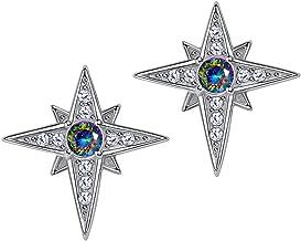 north star stud earrings
