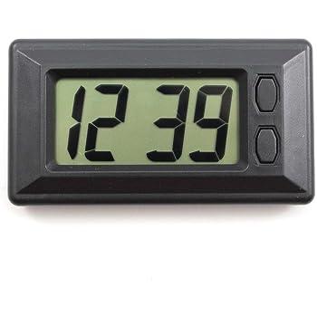 blanc Fenteer Mini Pile Carr/é Mini Portable Horloge /Étudiant Numerique /Électronique