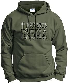 Jesus Saves I'm Just Disciple Religious Christian Hoodie Sweatshirt