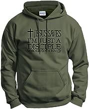 ThisWear Jesus Saves I'm Just Disciple Religious Christian Hoodie Sweatshirt