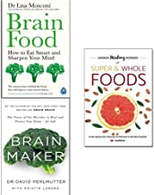 Brain food [hardcover], brain maker and hidden healing powers 3 books collection set
