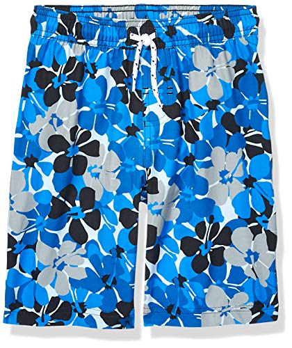Amazon Essentials - Bañador para niño, Azul Floral, US S (EU 116 CM)