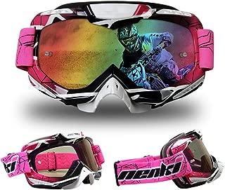 TZTED Motorcycle Glasses Riding Goggles Professional Motocross Goggles Anti-Fog Dirt Bike ATV Protective Anti UV Eyewear