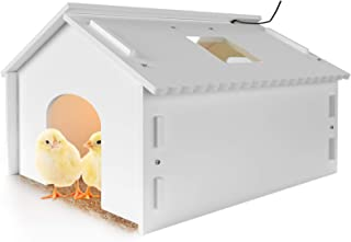 Janoel Chick Brooder Heater Plate Warm Lamps for Chicks Duckling Bird Coop Brooder Heating- White Large