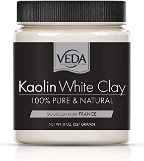 NEW! VEDA Kaolin White Clay | 100% Pure | From Natural French Clay Deposits | 8 oz. (227 grams)