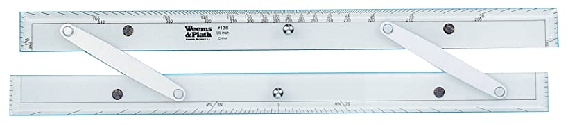 Weems & Plath Marine Navigation Parallel Ruler (Aluminum Arms, 18-Inch)