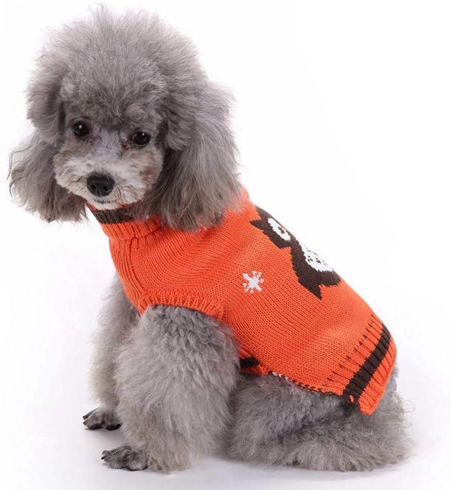 YiJee Kleine Hundchen Weihnachten Stricken Pullover Haustier Karikatur Eule Kleidung