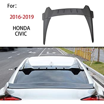 for Honda Civic 10th Sedan Spoiler 2016 2017 2018 Type-R Style Car Decoration Rear Roof Tail Wing 4 Door Saloon Car Spoilers Carbon Fiber Pattern