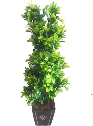 HYPERBOLES Artificial Bonsai Plant Tree for Home Decor Real Touch Plant - 16INCH (Green)