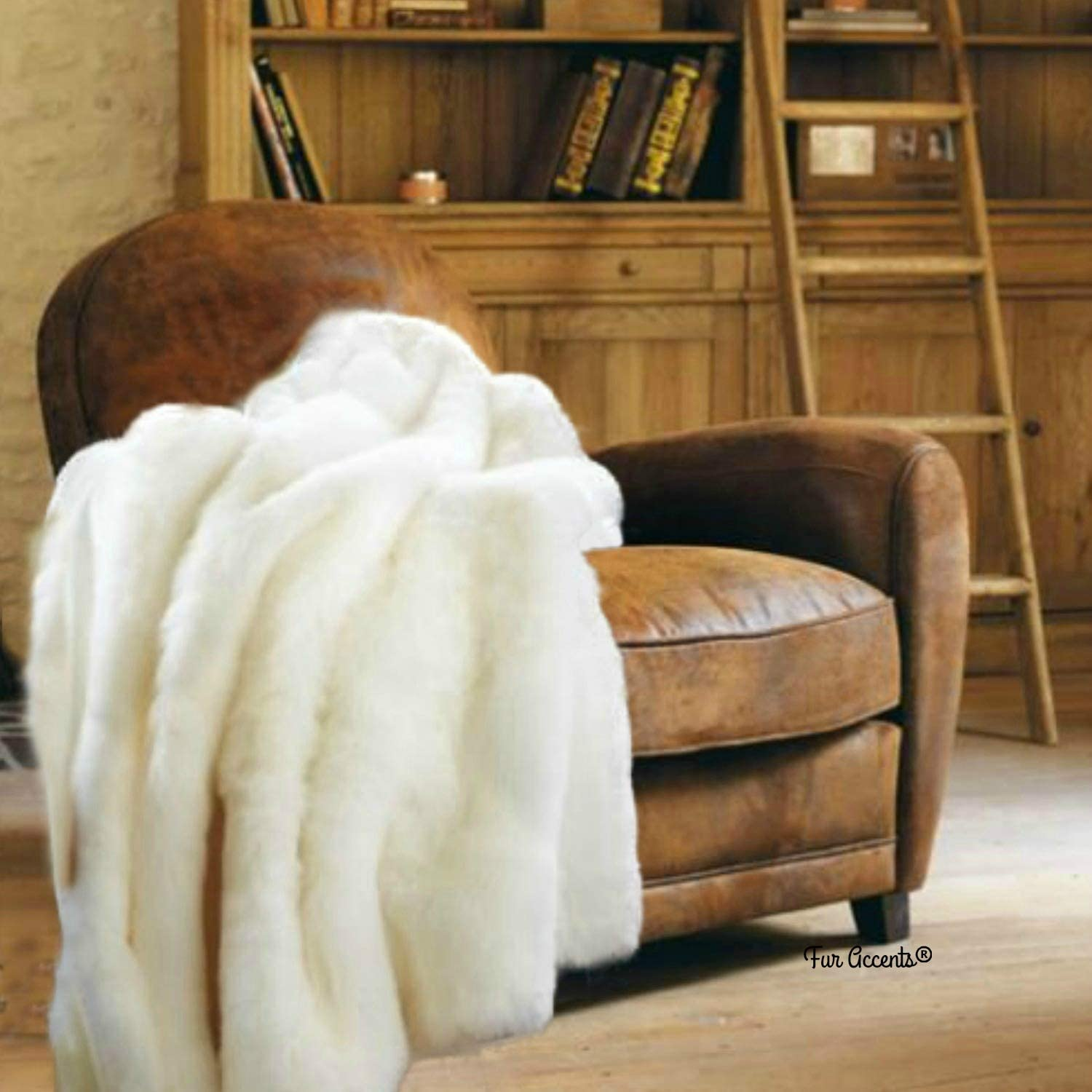 All stores are sold Gorgeous Fur Accents Throw Blanket Tissavel Mink Creamy Faux White 4'