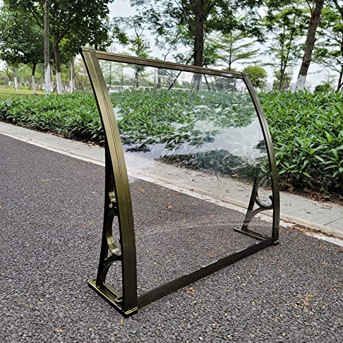 Yeanee Marquesina Arqueada Protección Solar Transparente Toldo del Patio Resistente a la Lluvia Protección UV Marquesinas Exterior para Techo Porche Jardín (Size : 100 * 60cm)
