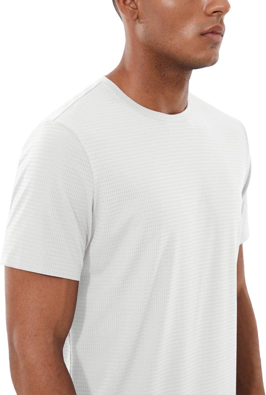 BALEAF Mens EVO Cooling Workout Running Athletic Shirts Quick Dry Soft UPF 50 Short Sleeve Lightweight T-Shirt
