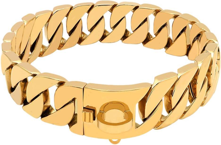 LHKMGH Super Strong Dog Chain Silv Collar Pet Direct store Choke Slip Finally resale start