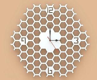 Orologio da parete Decorazione Arredo Design Nido d'api Artigianale