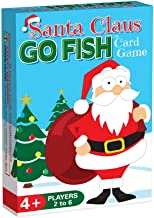 Santa Claus GO FISH, a Christmas Card Game for Kids (GO FISH, Old Maid, and Christmas Matches), Play 3 Classic Kids Games Using ONE Holiday Themed Deck, Ideally Sized for Use as Stocking Stuffers