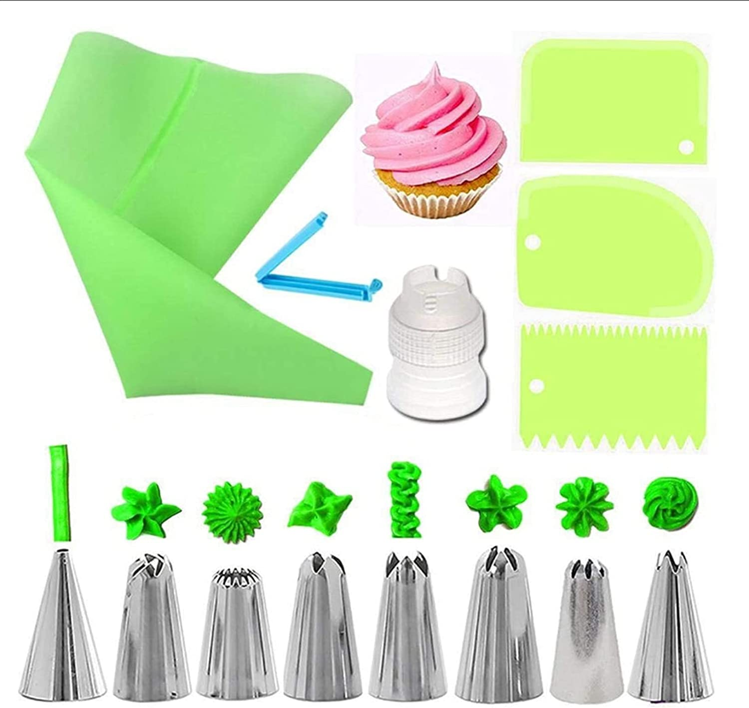 Piping Tips 14Pcs Set Reusable Pastry B Nozzles Seattle Mall Max 46% OFF Icing