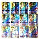 T.Y.G.F Juego de Cartas de Pokemon de 100 Piezas, Cartas Coleccionables, Trainer Cartas, Cartas Pokémon Game Battle Card, Regalos para niños (95GX+5MEGA)