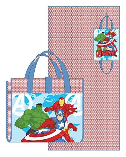 Natte de plage pliable enfant garçon Avengers Rouge/bleu 75 x 150 cm