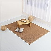 Square Natural Fiber Bamboo Braided Rug Living Room Floor Mat Non-slip Area Rugs Summer Cool Pad Mattress Indoor Outdoor (...