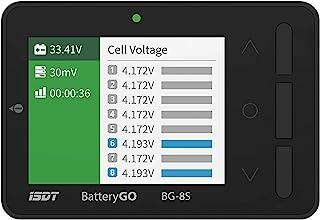 ISDT BattGo BG-8S Battery Meter, LCD Display Digital Battery Capacity Checker Battery Balancer Battery Tester for LiPo/Lif...