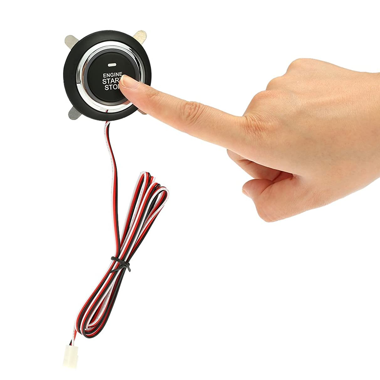 Jonathan-Shop - Car Engine Start Stop Push Button Auto Ignition Remote Starter for Toyota Ford Peugeot 307 Mercedes Volkswagen Mazda 3 Passat B6