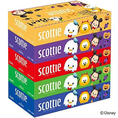 クレシア スコッティ ティッシュペーパー ディズニー ハロウィン 160組 5箱パック