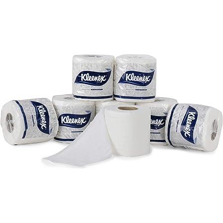KLEENEX® Toilet Tissue 60047 - 2 ply Toilet Paper - 6 Toilet Rolls x 160 Toilet Tissue Sheets - Sheet Size 11 x 10 cm (960 sheets)