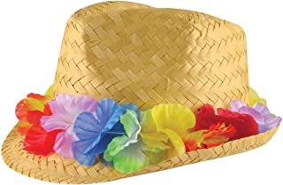 Adults Beachcomber Straw Hat Mens Tropical Beach Party Fancy Dress Accessory One Size