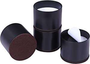 Ezprotekt Upgrade Bed Risers Heavy Duty Furniture Risers for Sofa Table Couch Lift Height of 1.2 Inches, Bottom Pad Protect Floors, Solid Steel Offer Strong Support, Set of 4, Round Black