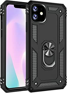 iPhone 11 Case [ Military Grade ] 15ft. Drop Tested Protective Case | Kickstand | Compatible for Apple iPhone 11 6.1 Inch- Black (Renewed)