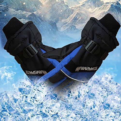 Per 7.4V Guantes Calefactables USB para Hombres y Mujeres Manoplas para Moto Esquí Guantes de Calefacción Accesorios Térmicos de Invierno (L)