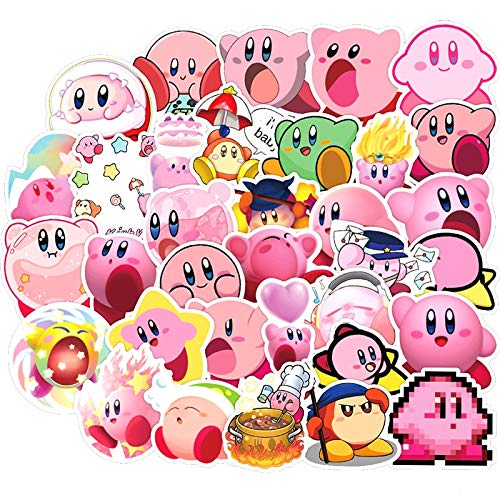 Game Kirby Star Allies Stickers for Furniture Wall Desk DIY Chair Toy Car Trunk Computer Decal TV Motorcycle50Pcs/Pack