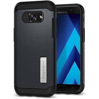 Spigen 573CS21359 Slim Armor für Samsung Galaxy A5 2017 Hülle, 2-teilige Doppelte Schutzschicht Handyhülle mit Integrierten Kickstand (Metal Slate)