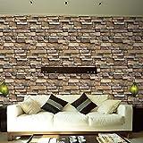 LCLrute NEUE Mode Simulated brick wall sticker 3D Wall Paper Brick Stone Rustic Effect Self-adhesive Wall Sticker Home Decor S (Multicolor)