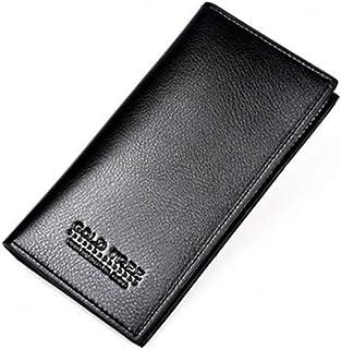 BeniNew long wallet ultra-thin wallet super-fiber men's bag men's wallet-black