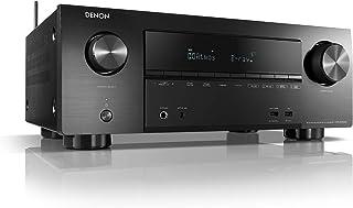 Denon AVRX2500H - Receptor AV (Bluetooth, Dolby Atmos, Airplay2, Dynamic Volume/EQ, HDMI, Heos integrado), Negro