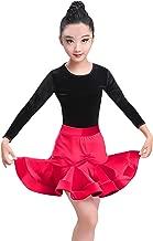 مجموعة تنورة للأطفال والبنات الراقصة اللاتيني من ملابس الرقص اللاتيني