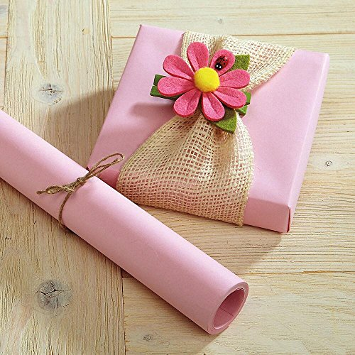 Pastel Pink Kraft Gift Wrap - 38 sq. ft, Heavyweight, Peak-Proof, Tear-Resistant Wrapping Paper, Great for Valentine's Day, Easter, Girls' Birthdays, Baby and Crafts