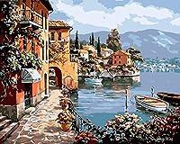 GFJGHJ-数字油絵 数字キット塗り絵 手塗り Diy絵 デジタル油絵ヴェネツィア-フレームレス 40* 50 Cm