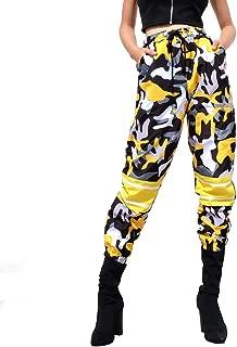 Women Elastic Waist Patchwork Trousers Casual Streetwear Pencil Pants