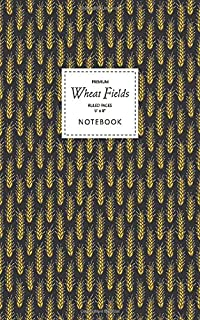 Wheat Fields Notebook - Ruled Pages - 5x8 - Premium: (Night Edition) Fun notebook 96 ruled/lined pages (5x8 inches / 12.7x...