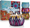 YINUO LIGHT Large Size Scented Candles Gifts Sets for Women, Natural Soy Wax Travel Tin Fragrance Gift for Birthday Mother's Day Bath Yoga Aromatherapy