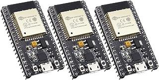 Tianqin ESP32 ESP-WROOM-32 Placa de Desarrollo 2.4 GHz Dual Core WLAN WiFi Bluetooth Microcontrolador 2 en 1 con Chip CP21...