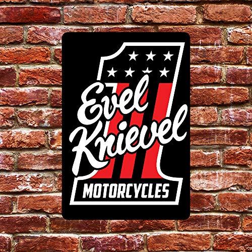 EVEL Knievel Tin Metal Sign Plaque Retro Art Wall Decor Poster for Cafe Bar Shop 12 X 8 inch