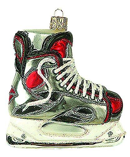 Unbekannt Christbaumschmuck Figuren Sport (Schlittschuhe Ice Hockey 7.5cm) Weihnachtskugeln Weihnachtsbaumschmuck Christbaumkugeln Deko Glas