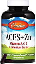 Carlson - ACES + Zn, Vitamins A, C, E + Selenium & Zinc, Cellular Health & Immune Support, Antioxidant, 180 Softgels