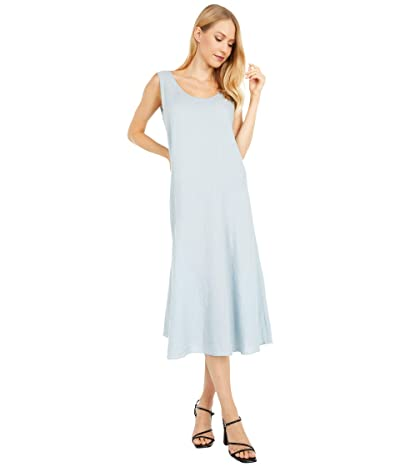 Eileen Fisher Scoop Neck Knee Length Dress (Dawn) Women