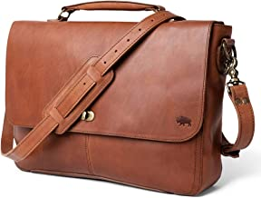 Genuine Leather Messenger Bag for Men   Denver by Buffalo Jackson   Fits 13