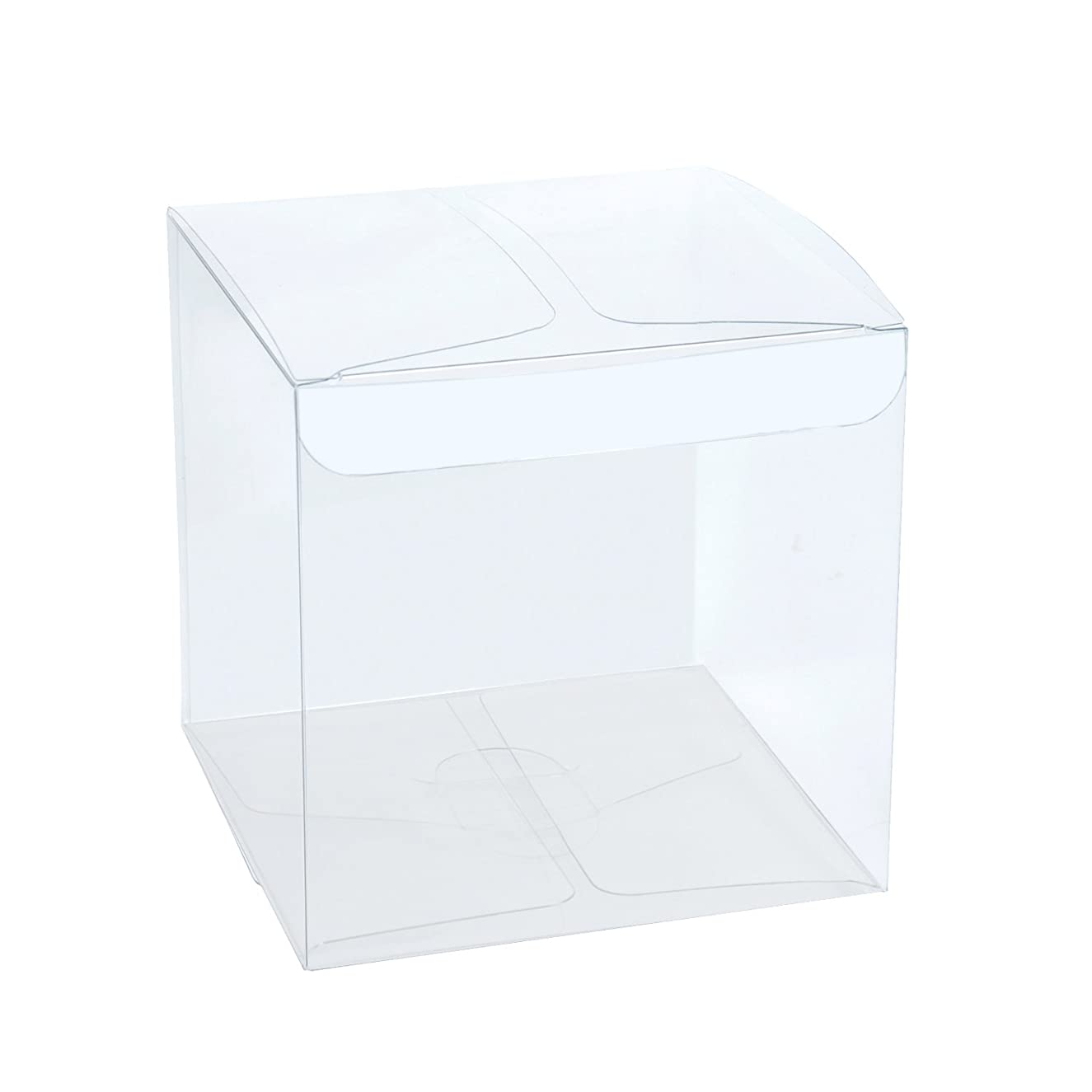 LaRibbons 30Pcs PET Clear Box, Transparent Boxes, Candy Box, Clear Gift Boxes for Wedding, Party and Baby Shower Favors, 3